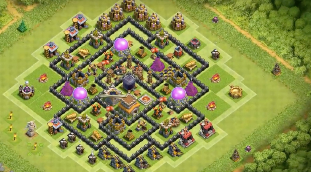 Farming Base TH 8 Mortars