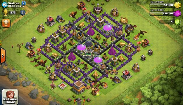 TH8 Farming Base Terbaik